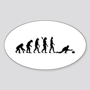 Curling evolution Sticker (Oval)